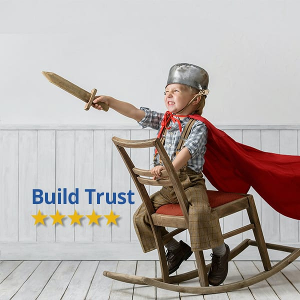 build trust for customers